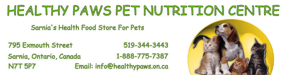 Healthy Paws Pet Nutrition Centre Header Image